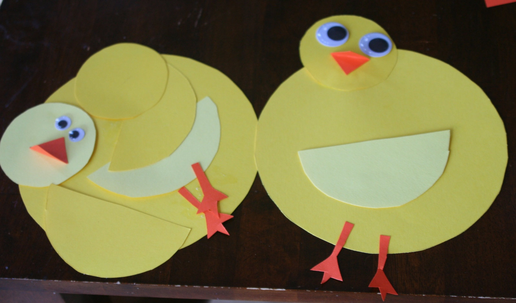 Duck craft using paper for Craft ideas for a 4 year old