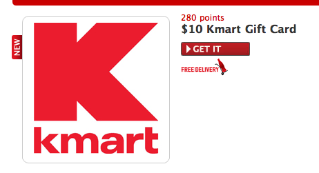 My Coke Rewards 10 Kmart Gift Card 280 Points