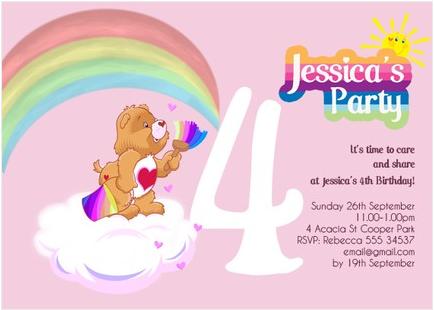 bear party – Care Bears Birthday Card
