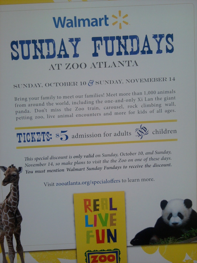 38 best Zoo Atlanta coupons and promo codes. Save big on tickets and memberships. Today's top deal: 40% off. Goodshop works with Zoo Atlanta to offer users the best coupon discounts AND makes a donation to your favorite cause when you shop at participating stores. Free General Admission Tickets for Child 2 & Under.