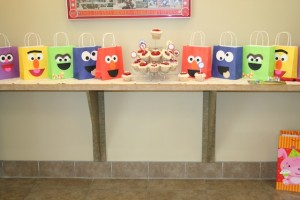 sesame street birthday party goodie bags