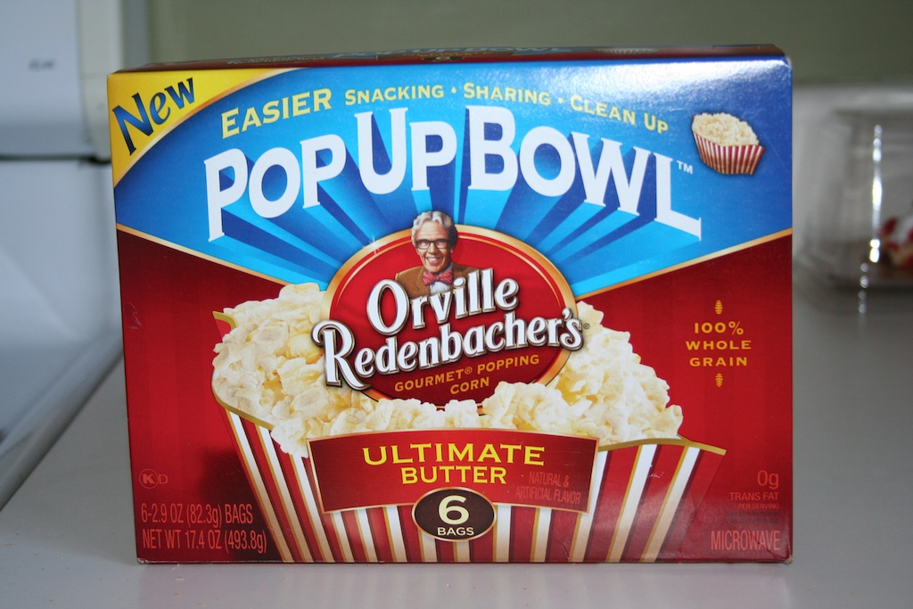 Orville redenbacher popcorn bag