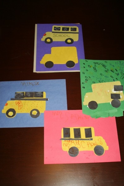 Construction Paper School Bus Examples
