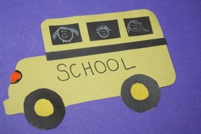 Construction Paper School Bus example